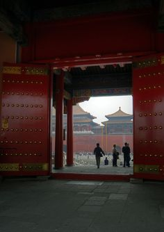 forbidden city Beijing-- I had a strange feeling walking through these big doors-like a connection to history.