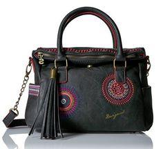 #Desigual Tasche - Modell Bols Loverty Greta. Muster: ethnisch und Mandala, schwarz.