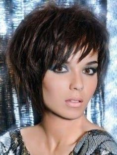 Image result for choppy hairstyles for thick hair