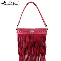 Montana West Genuine Leather Fringe Handbag (MW170-918)