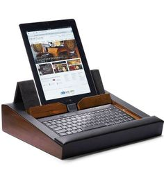 Transform your tablet into a portable, ergonomic workstation you can use in bed, on the couch, or at your desk.