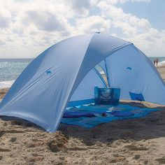 Sun Protective Beach Tent:  Recommended by the Skin Cancer Foundation, this lightweight and portable Sun Protective Beach Tent provides superior UPF 60+ sun protection whenever and wherever you need it. Quick and easy setup means that in just minutes, you can enjoy generous shade, even during intense midday sun.