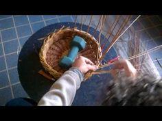 Chiusura di un cesto con la bordura a 3 coppie - YouTube
