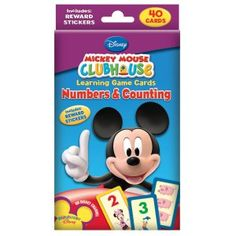 Disney Mickey Mouse Clubhouse Numbers and Counting Learning Game Cards