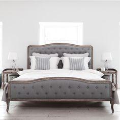 Chantal Bed - Super King Size Grey Linen