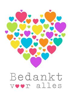 Kaarten - bedankt - algemeen bedankt | Hallmark Thank You Quotes, Thank You Gifts, School Projects, Projects To Try, Gratitude, School Info, Dutch Quotes, Card Sentiments, Happy B Day
