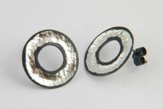 Jennifer Wall - oxidised silver and 18ct white gold leaf