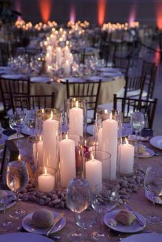 Centerpieces with a lot of candles. I wouldn't choose the rest but that is beautiful