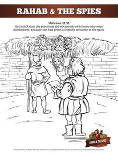 rahab and the spies coloring page - 1000 images about bible story rahab and the spies on