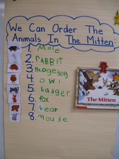 Using The Mitten for ordering, sequencing and interactive writing!