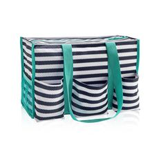 Zip-Top Organizing Utility Tote This is the diaper bag I want, but with embroidered N