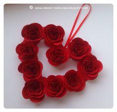 Stampin Up Spiral Flower Die, Valentine