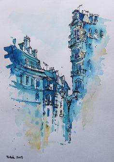 Nice, watercolor, 20x30 cm