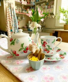"Cath Kidston on Instagram: ""A cup of tea or three is exactly what we need to enjoy summer's last hurrah (while it lasts) and then greet Autumn with a grin.…"" Enjoy Summer, Cath Kidston, Tea Cups, Autumn, Fall Season, Fall, Teacup, Cup Of Tea"