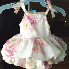 Started off as a pillow case dress, added ruffles :) Embroidery Ideas, Baby Pictures, Smocking, Ruffles, Pillow Cases, Sewing Projects, Party Ideas, Summer Dresses, Pillows