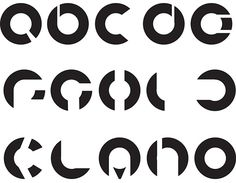A creative modular typography using only circles.