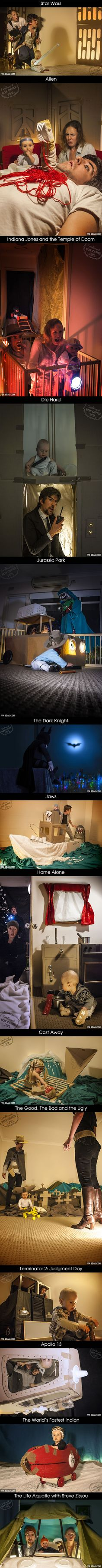 Hahaha! I love these people!  Coolest Parents Ever Recreate Famous Movie Scenes With Their Baby