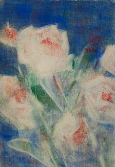 Christian Rohlfs Peonies on Blue 1936