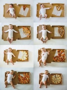 This Mom Documented Her Baby's First 12 Months Using Pizza Slices, and It's a Carb-Lover's Dream recipes for kids Monthly Baby Photos, Newborn Baby Photos, Baby Boy Photos, Baby Boy Newborn, Baby Baby, Funny Baby Photos, Baby Ruth, Baby Crib, Mom And Baby