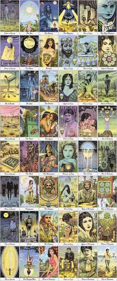 The Cosmic Tarot. The imagery is reminiscent of 1940's circuses and traveling gypsies.