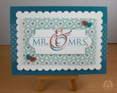 stampin up, card wedding
