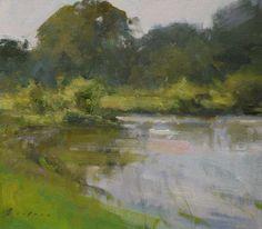 "Grey Lodge Greens by Simon Addyman Oil ~ 11"" x 12"""