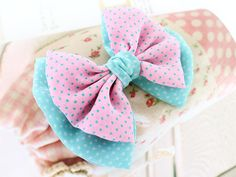 Playful Kiss *Hairpin - DIY Hair AccessoryKit - Do It Yourself - DIY Hair Accessories / Ribbon Crafts Supplies / Tutorial〃Let's Ribbon〃