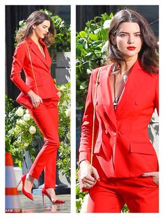 Kendall Jenner - chic in all red