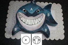 Cool way to make a shark cake.! :)