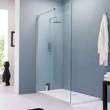 image result for glass wall shower