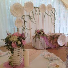 Купить Президиум молодоженов в стиле рустик - свадьба, свадебное украшение, оформление свадьбы, оформление зала