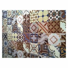 Jabo Luchetta wandtegel Portugese look cm Valance Curtains, Boho Chic, Tiles, Blanket, Stone, Bed, Vintage, Home Decor, Happy