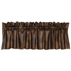 "Delectably-Yours.com Rustic Distressed Faux #Leather #Western #Valance 88"" x 18"" #DelectablyYours #WesternDecor"