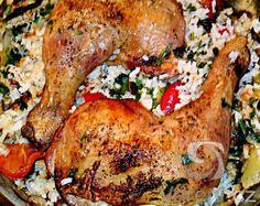 Recept na velmi chutný eintopf, kdy kuřecí maso upečeme spolu s dušenou rýží.