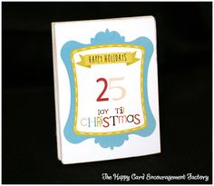 Advent Calendar pad using Lettering Delights files