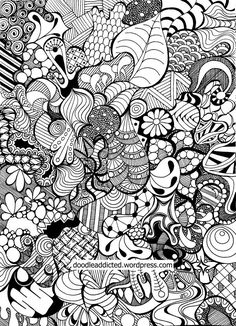 Tangled doodle drawing sharpie art by Heidi Denney Click through for time-lapse video of doodle.