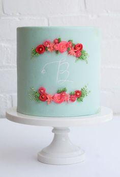 Pretty monogram cake