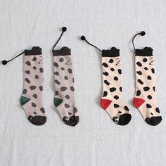 Pom Pom Knee Socks - Buttercup