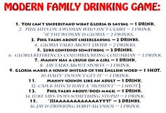 Modern Family drinking game