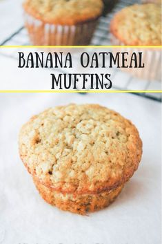 Good warm or cold, these quick and easy banana oatmeal muffins are a great way to start your day and keep going all the way to lunch! Oatmeal Muffins Healthy, Oatmeal Cupcakes, Healthy Breakfast Muffins, Banana Oatmeal Bars, Mini Banana Muffins, Oatmeal Cake, Baked Banana, Healthy Breakfasts, Breakfast Ideas