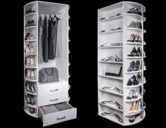 closet layout 720927852829638038 - Inspiration for rotating closet storage Source by Walk In Closet Design, Bedroom Closet Design, Master Bedroom Closet, Bedroom Wardrobe, Wardrobe Design, Wardrobe Closet, Closet Designs, Shoe Closet, Closet Storage