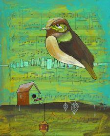 jennifer_kerr_mixed media  Put a bird on it!!!