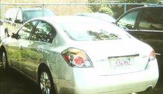 #AaronHernandez Nissan Altima with mirror missing & scratches