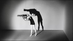 Walking Gun, a 1991 photo  by Laurie Simmons