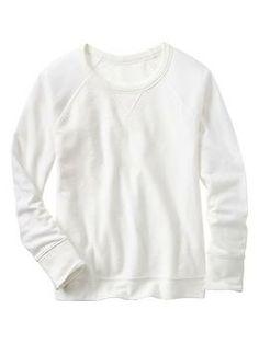 Textural raglan sweatshirt | Gap