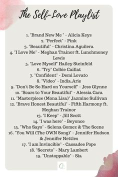 19 Songs with Powerful Self-Love Lyrics Stacey / Seashells and Storytime / Self-care, Personal Development & Parenting - Entertainment Movie Music Music Lyrics, Music Quotes, Music Songs, My Music, Motivational Songs, Music Mood, Mood Songs, Colbie Caillat, Road Trip Playlist