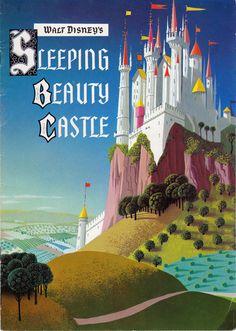 Vintage Walt Disney Disneyland Sleeping Beauty Castle - Fold-Out Booklet Walt Disney, Disney Films, Disney And Dreamworks, Disney Love, Disney Magic, Disney Parks, Disney Stuff, Sleeping Beauty Castle, Disney Sleeping Beauty