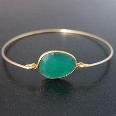 Green+Onyx+Bracelet+Onyx+Bangle+Green+Onyx+by+FrostedWillow,+$39.95 #bracelets #OnyxBracelets