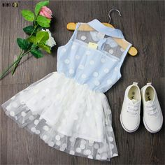 Tulle polka dot dress with peter pan collar Please allow weeks for shipping Baby Girl Dress Patterns, Little Girl Outfits, Kids Outfits Girls, Cute Outfits For Kids, Toddler Girl Outfits, Easter Dresses For Toddlers, Little Girl Fashion, Little Girl Dresses, Kids Fashion