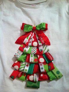 Christmas Tree Ribbon Shirt by shellie181 on Etsy, $23.00